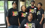 Group Shot wearing HOPE T-Shirts